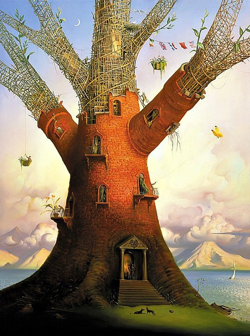 Painting by Vladimir Kush